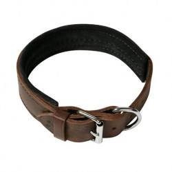 Extra soft padded soft leather collar, sewn
