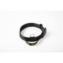Hetzhalsband aus Gurtband mit Handgriff und Sicherheitsverschluss
