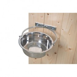 "Bowl holder for walls and kennels ""Klin Quality"", galvanized, including bowls"