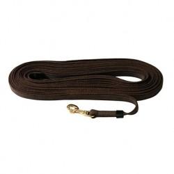 Trainingshalsband, aus Edelstahl mit Leder, 54 cm