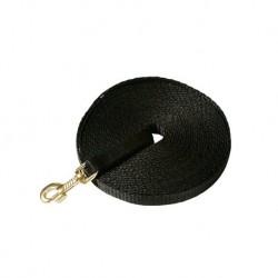 Nylon-Suchleine (P.P.) ohne Schlaufe, mit Messinghaken, schwarz