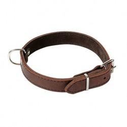 Halsbänder, genäht mit leichtem Lederfutter, Softleder, braun