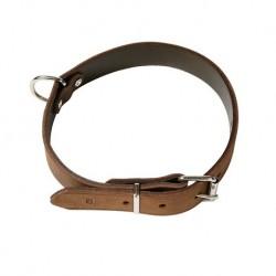 Einfache Halsbänder, sehr weich, Fettleder, silberfarbene Beschläge, ohne Polsterung, braun