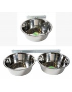 Bowl holder for walls and kennels, galvanized, incl. bowls