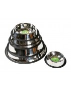 Anti-slip stainless steel bowls